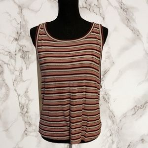 🌈 American Eagle Striped Muscle Tank Size XL